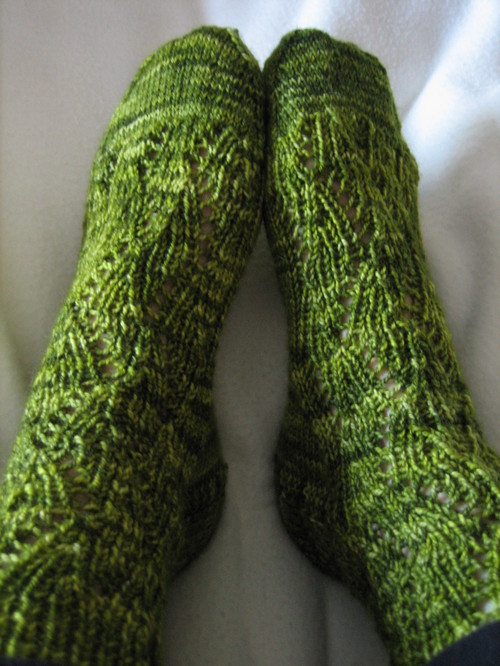 Ribbed Lace Socks
